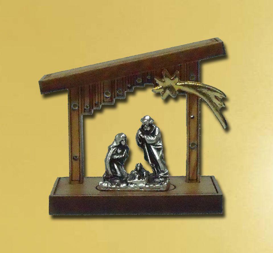 Nacimiento madera de olivo portal art culos religiosos - Portales de madera ...